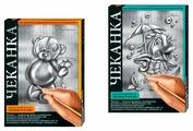 Металлопластика Danko Toys Мишка и Рыбка (ЧК-01-01) серебристая основа