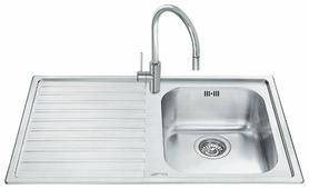 Врезная кухонная мойка smeg LM861S-2 86х50см нержавеющая сталь