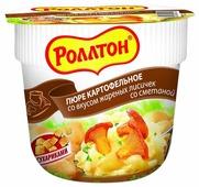 Роллтон Пюре картофельное со вкусом жареных лисичек со сметаной 40 г