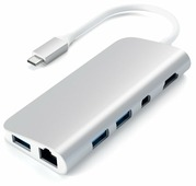 USB-хаб Satechi Aluminum Type-C Multimedia Adapter (ST-TCMM8PAM) Серый