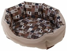Лежак для кошек, для собак Зоо Фортуна Манчестер Кафе №1 (м-258) 53х40х15 см