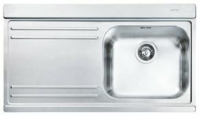 Врезная кухонная мойка smeg LI91S 89.7х51см нержавеющая сталь