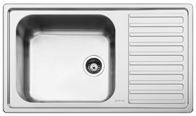 Врезная кухонная мойка smeg LG861D-2 86х50см нержавеющая сталь