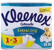 Туалетная бумага Kleenex ExtraLong Delicate белая двухслойная