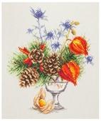 Чудесная Игла Набор для вышивания Зимний букетик 20 x 23 см (100-001)