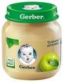 Пюре Gerber Только яблоко (с 4 месяцев) стеклянная банка 130 г, 1 шт
