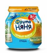 Пюре ФрутоНяня из груш (с 4 месяцев) стеклянная банка 100 г, 1 шт
