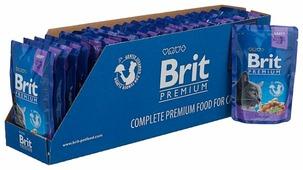 Корм для кошек Brit Premium беззерновой, с треской 100 г (кусочки в соусе)