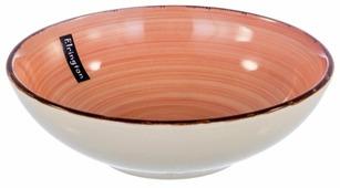 Elrington Тарелка глубокая Нежный персик 18 см