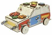 Бизиборд IWOODPLAY Машинка с электрикой