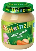 Пюре Heinz Овощной микс (с 5 месяцев) 120 г, 1 шт