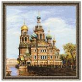 Риолис Набор для вышивания крестом Санкт-петербург. Храм спаса-на-крови 40 x 40 (1548)