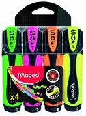 Maped Набор текстовыделителей Fluo Pep s Ultra Soft, 4 шт. (746047)