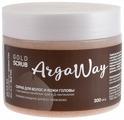 Argaway Cкраб для волос и кожи головы с золотыми частицами, экстактом лечебных трав и Д-пантенолом