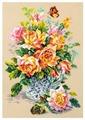 Чудесная Игла Набор для вышивания Чайные розы 24 x 34 см (100-021)
