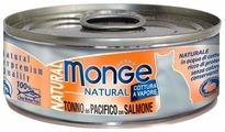 Корм для кошек Monge Natural с лососем, с курицей, с тунцом 80 г