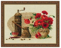 Риолис Набор для вышивания крестом Кофе 30 х 24 см (1121)