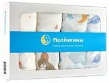 Многоразовые пеленки Пелёнкины муслин 120х120 комплект 4шт