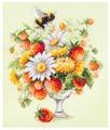 Чудесная Игла Набор для вышивания Июльский букетик 20 x 23 см (100-003)