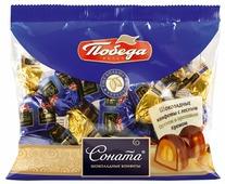 Конфеты Победа вкуса Соната с лесным орехом и ореховым кремом, пакет