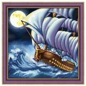 Алмазная живопись Набор алмазной вышивки Море волнуется (АЖ-1601) 40х40 см