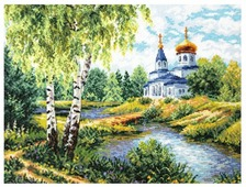 Чудесная Игла Набор для вышивания Дорога к храму 40 x 30 см (43-10)