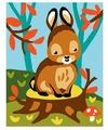 Канва для вышивания с рисунком Collection d'Art Зайчонок и мухомор 20 х 25 см