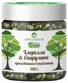 Оргтиум Хлорелла & Спирулина прессованная в таблетки, 100 г
