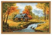 Риолис Набор для вышивания крестом Осенний пейзаж 38 х 26 см (1079)
