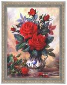 Алмазная живопись Набор алмазной вышивки Прекрасные розы (АЖ-1349) 40х30 см