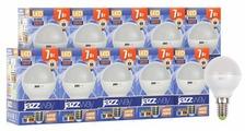 Упаковка светодиодных ламп 10 шт jazzway PLED-SP 530Lm, E14, G45, 7Вт