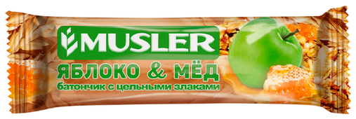 Злаковый батончик Musler Яблоко и мед, 6 шт