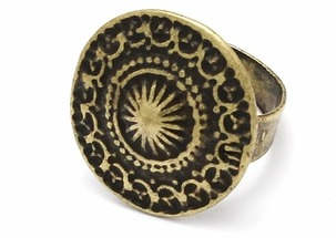 Skifska Etnika Кольцо Каменный Цветок Лантана (античное золото)