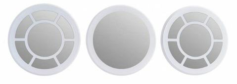 Зеркало Мастер Рио Набор №1 Белый 28х28 в раме