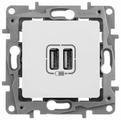 USB розетка Legrand Etika 672294, белый