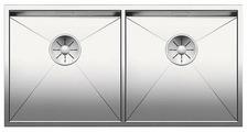 Врезная кухонная мойка Blanco Zerox 400/400-U 86х44см нержавеющая сталь