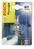 Лампа галогенная автомобильная BOSCH Pure Light H7 (1987301012)
