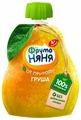 Пюре ФрутоНяня из груш натуральное гипоаллергенное (с 4 месяцев) мягкая упаковка 90 г, 1 шт.