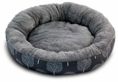 Лежак для собак Triol Сказочный лес M круглый 63х63х11 см