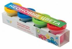 Масса для лепки Genio Kids 4 неоновых цвета по 50 г (TA1016)