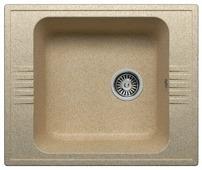 Врезная кухонная мойка Polygran F-20 60х50см искусственный мрамор