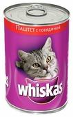 Корм для кошек Whiskas беззерновой, с говядиной 400 г (паштет)