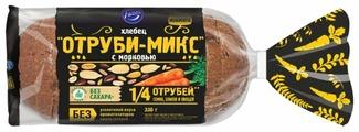 Fazer Хлебец Отруби-микс с морковью в нарезке 330 г
