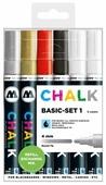 Molotow Набор меловых маркеров 4 мм Chalk Basic set 1, 6 шт. (200472)