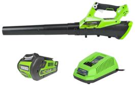 Аккумуляторная воздуходувка greenworks G40ABK3 с АКБ и ЗУ