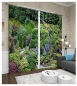 Фотошторы Сирень Колумбийский сад (ФШГБ001-13557) на ленте 260 см