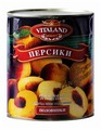 Персики Vitaland половинки, жестяная банка 850 мл