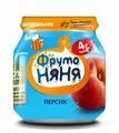Пюре ФрутоНяня из персиков (с 4 месяцев) 100 г, 1 шт