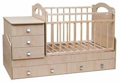 Кроватка Волжская деревообрабатывающая компания Infanzia (трансформер)
