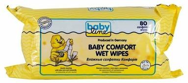 Влажные салфетки BabyLine Baby comfort с алоэ вера и ромашкой